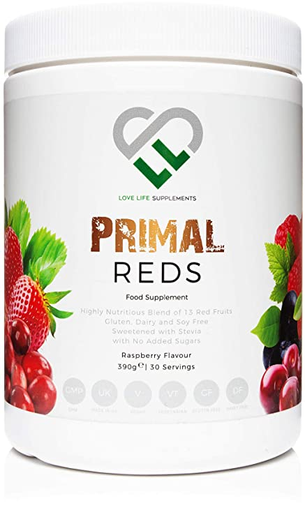 LLS Primal rojos en polvo | 390g Tub / 30 porciones | Una mezcla de 15
