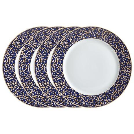 Mikasa Parchment Cobalt Round Dinner Plates Set of 4  sc 1 st  Amazon.com & Amazon.com | Mikasa Parchment Cobalt Round Dinner Plates Set of 4 ...