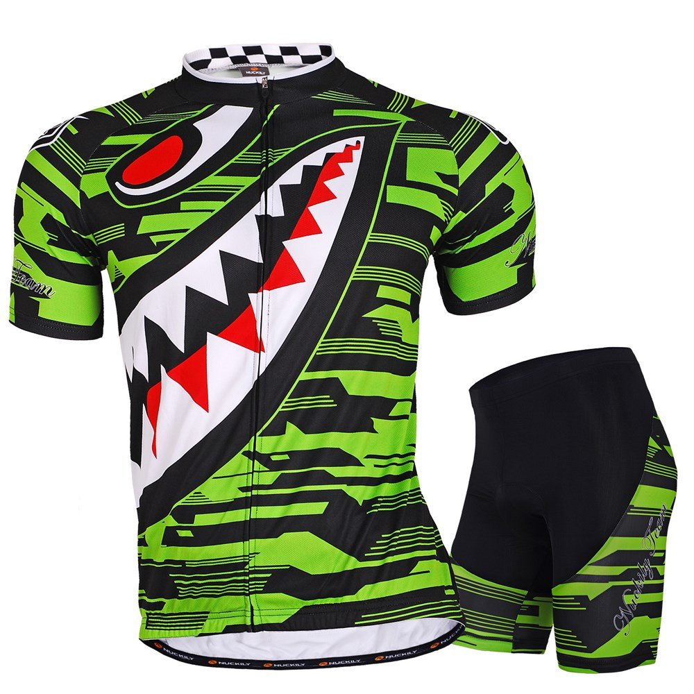 NUCKILY Men Cycling Suits Short Sleeve Bicycle Jersey And Shorts Set Summer FO SHAN NUCKILY SPORT PRODUCTS CO. LTD