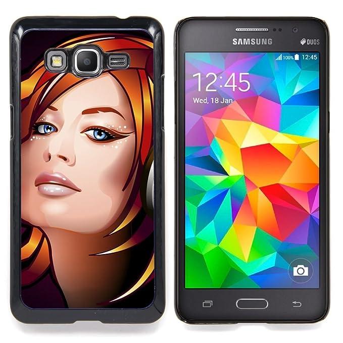 Carcasa rígida de centro de skcase/bolsa - DJ girl - Samsung ...