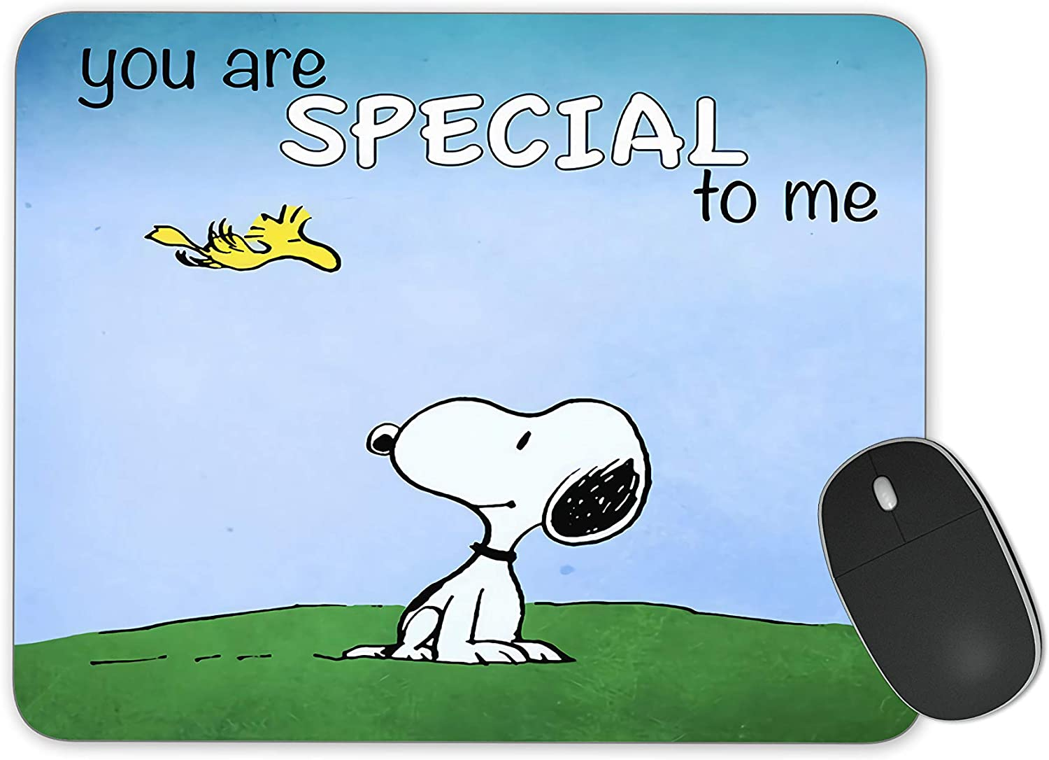 JNKPOAI Cute Snoopy Anti-Slip Mousepad.Office Supplies Mouse Pad (Snoopy-Blue)