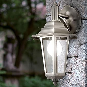 7 W lámpara LED exterior hogar pared lámpara Acero Inoxidable Farol Jardín Iluminación: Amazon.es: Iluminación