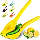Zulay Kitchen Top Rated Premium Quality Metal Lemon Lime Squeezer - Manual Citrus Press Juicer