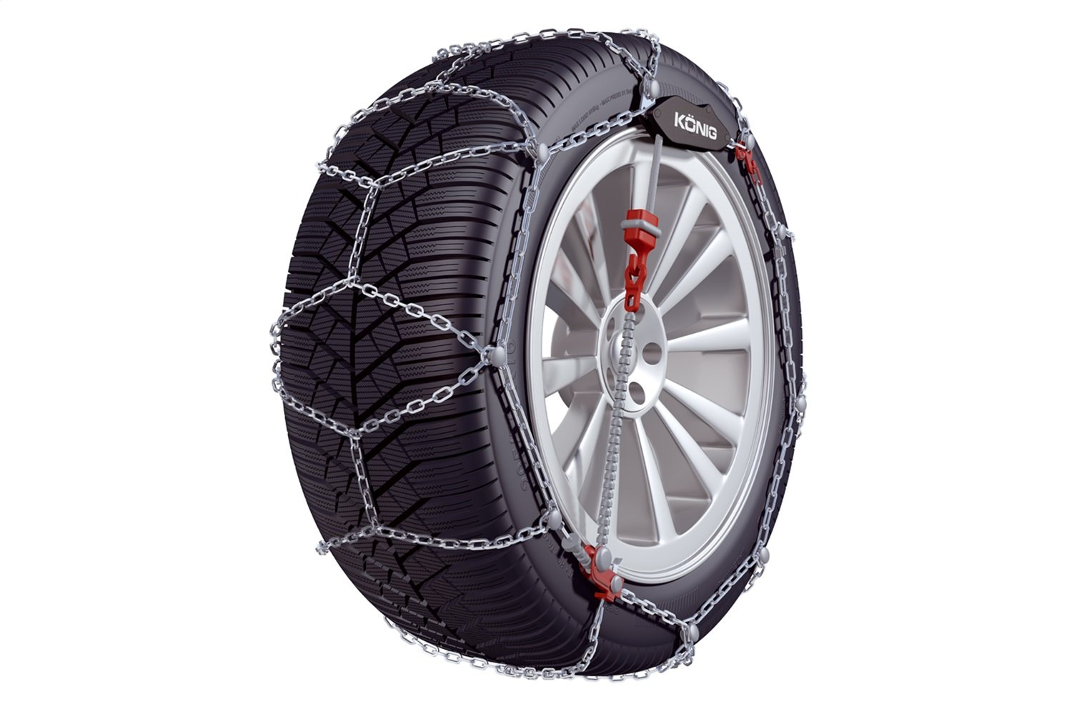 Konig 9mm CG9 Premium Passenger Car Snow Chain Size 102 Sold in pairs