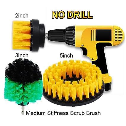 oxoxo 2 en + 3 en + 5 en Drill cepillo medio pesado deber de fregar