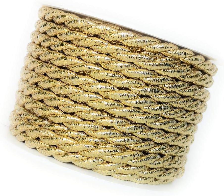 Kordel Band ca 8 mm Ø gedreht geflochten Deko Verzierung Creme