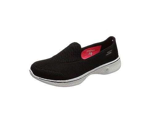 Skechers Go Walk 4-Propel, Zapatillas para Mujer, Negro (BKW),