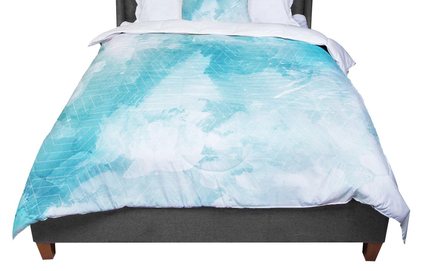 KESS InHouse Matt Eklund 'Skyward' Blue White Twin Comforter, 68' X 88'