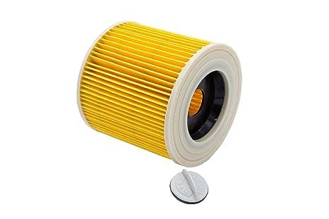 vhbw filtro de cartucho para aspirador robot aspirador multiusos Kärcher WD 2500 M, WD 3.200