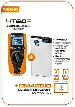 HT60P Promo oferta HT60 multímetro digital TRMS + Powerbank 10000 ...