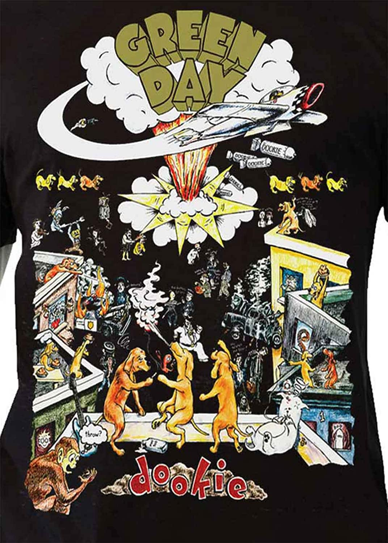 G/én/érique Green Day T Shirt 1994 Tour Dookie Nouveau Officiel Vintage Homme