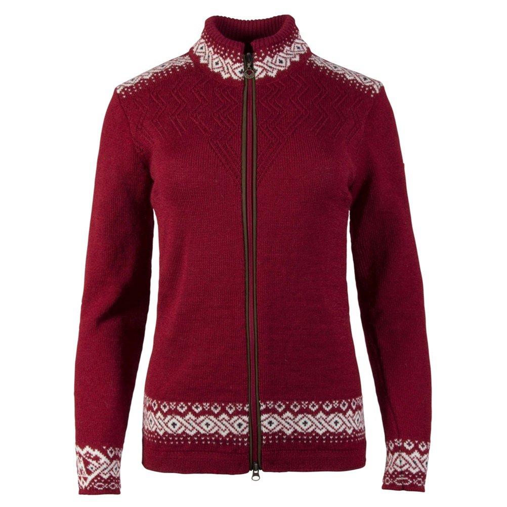 Red L Dale of Norway Women's Bergen Sweater