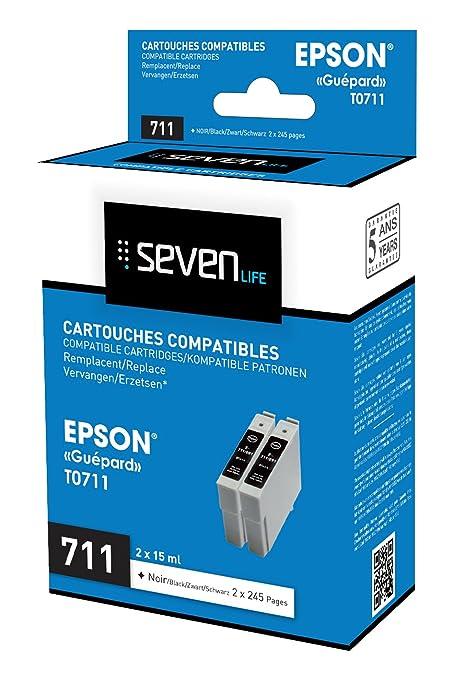 Seven Life SLE0711X2 Cartucho de Tinta Negro Multipack ...