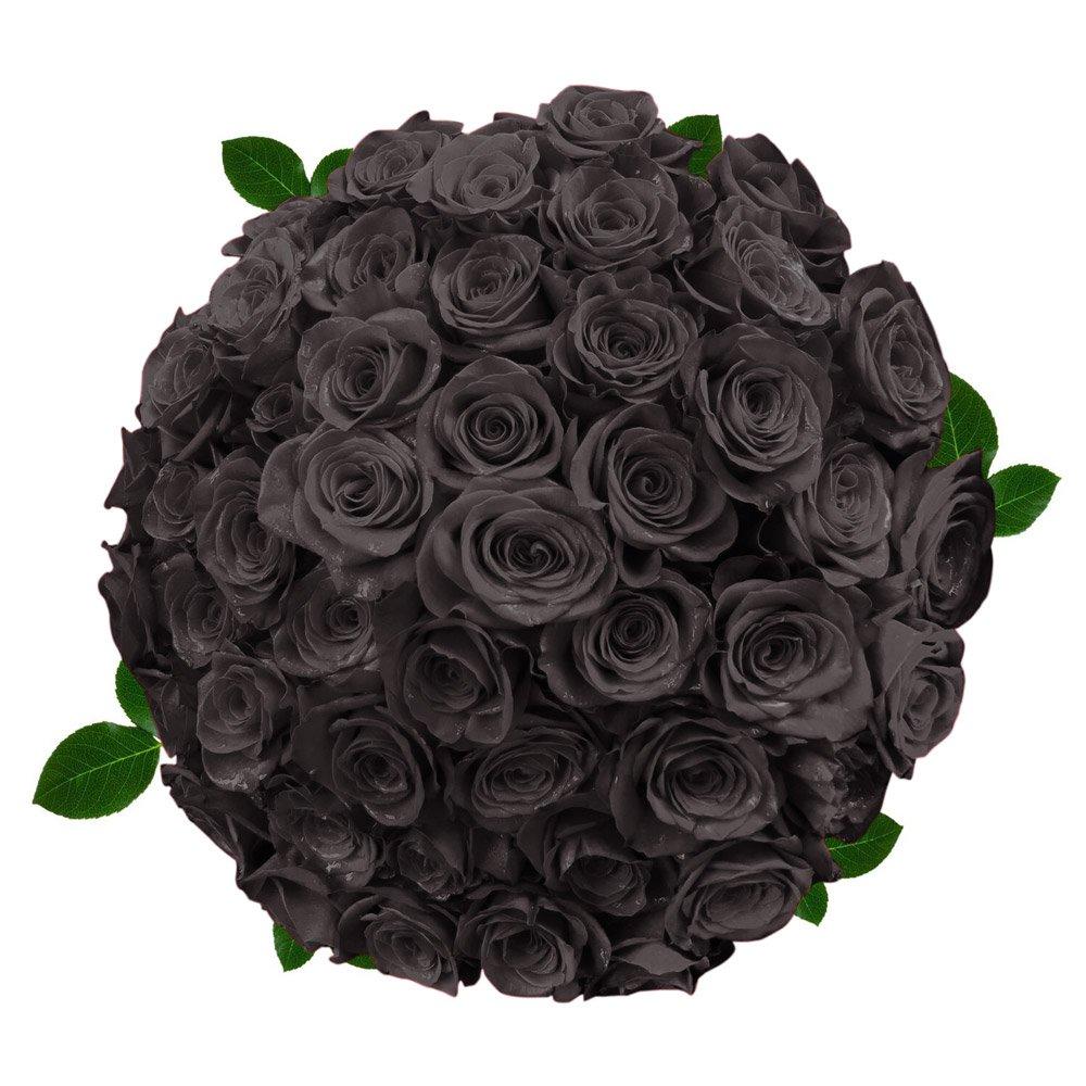 FRESH Black Roses| 50 stems Magnaflor - XXLBlooms| Bunch| 10-12 days vase Life