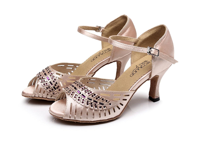 JSHOE Lateinamerikanische Damenschuhe Salsa / Tango / Chacha / / Samba / Modern / Chacha Jazz Dance Sandalen High Heels,Pink-heeled7.5cm-UK2.5/EU32/Our33 - 16a772