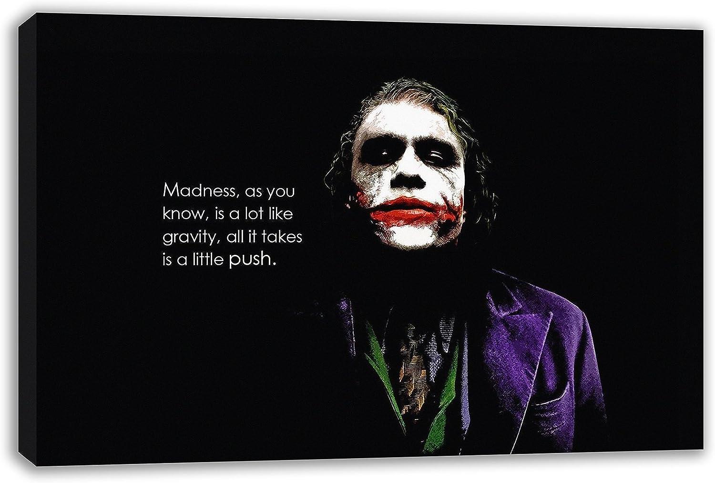 Amazon Com The Joker Madness Quote Batman The Dark Knight Canvas