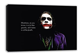 The Joker Madness Quote Batman The Dark Knight Canvas Wall Art 30 X 18