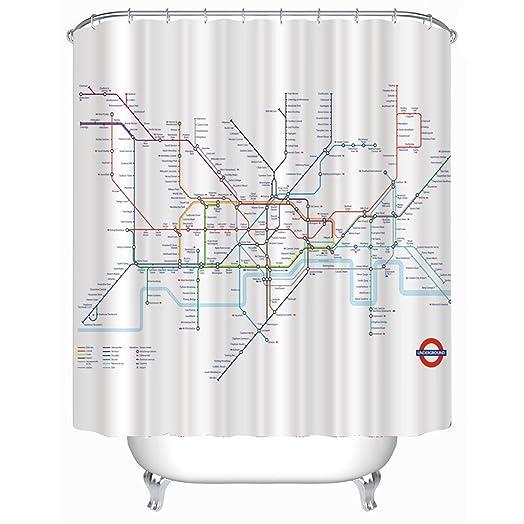 London Underground Tube Map Shower Curtain