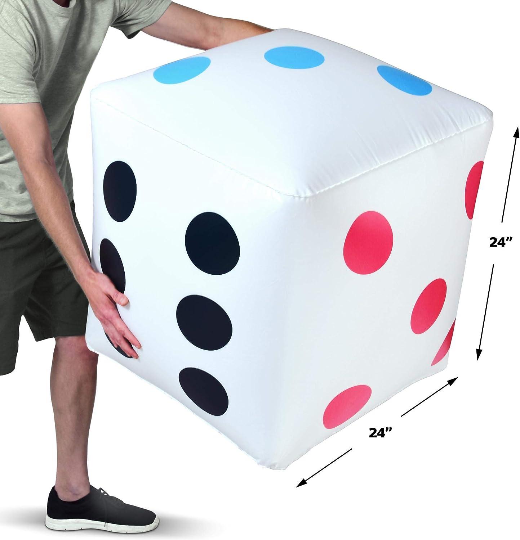 Amazon.com: GoSports - Dados inflables gigantes de 2 pies ...