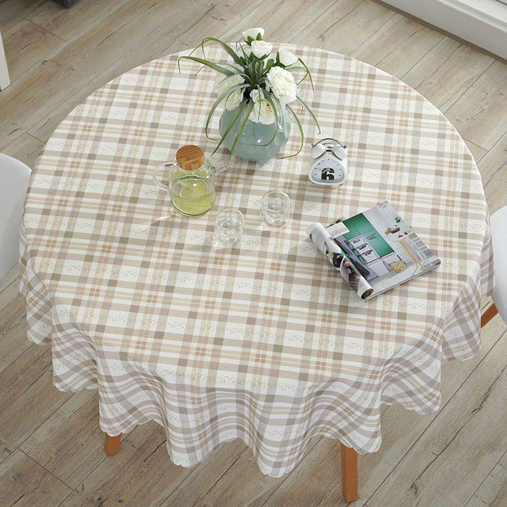 LWF Europäische Tischdecke Europäischer Gitter-Rundtisch - Wasserdichte und ölBesteändige runde Matte - Haushalt (Farbe   A, größe   Round-90cm) B07D17RS4G TischdeckenSpielen Sie auf der ganzen Welt und verhindern Sie, dass