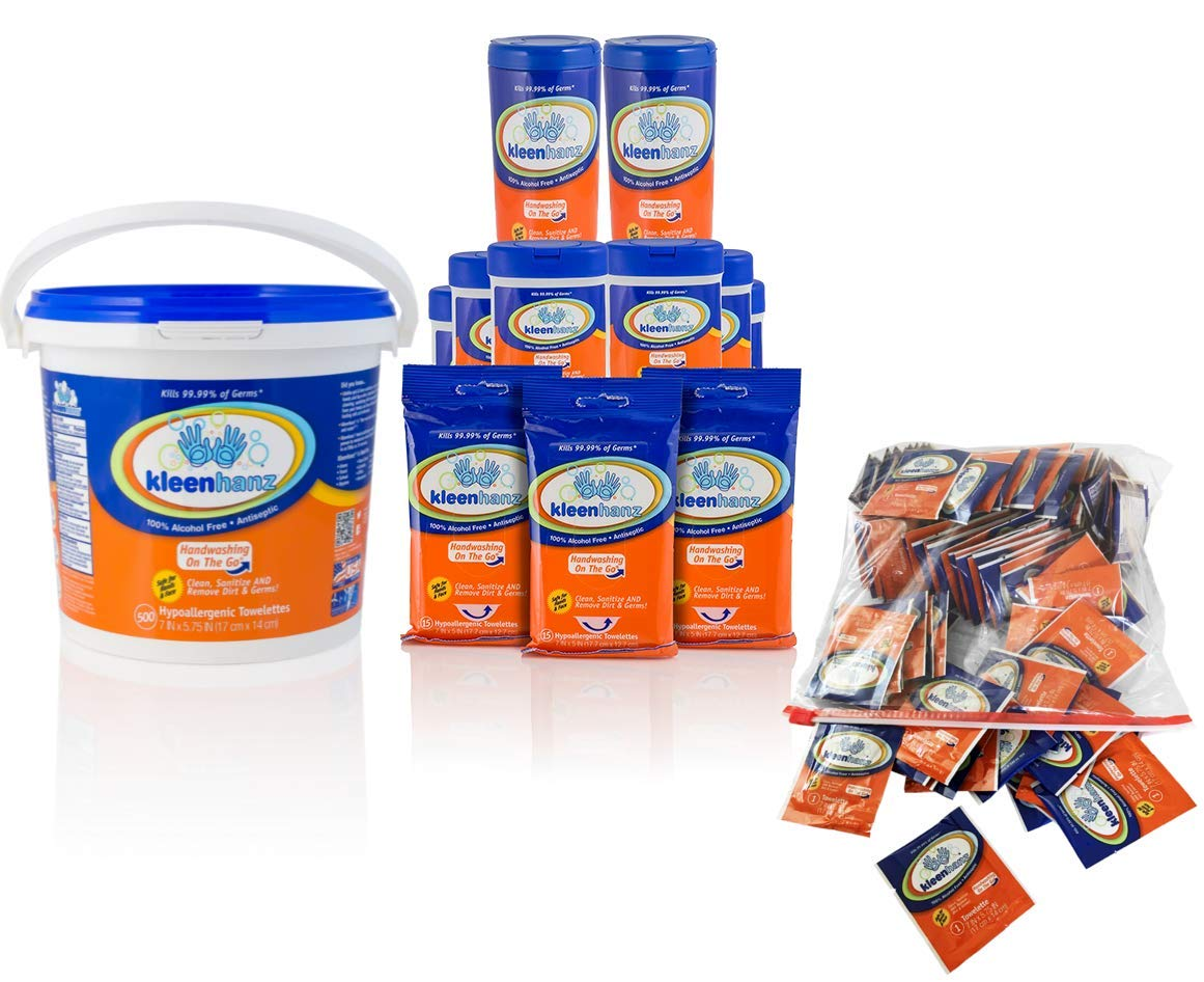 Kleenhanz MEGA Family Value Pack-1,120 Wipes (Pack of 18 Items) by KLEENHANZ