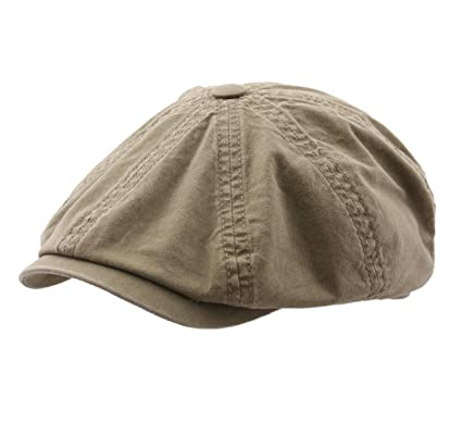 fe4a18d4fe4 Stetson Men s Hatteras Delave Organic Cotton Flat Cap at Amazon Men s  Clothing store
