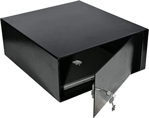 De Raat Auto laptopsafe Negro - Caja fuerte (Llave plana, Negro, 420 mm, 480 mm, 180 mm, 410 x 415 x 170 mm): Amazon.es: Hogar
