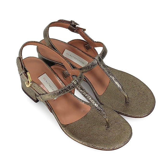 L Autre Chose Chaussures Femme Sandale Tong Craquelé Bronze Printemps-Été  2018  Amazon.fr  Chaussures et Sacs 25186b8848c0
