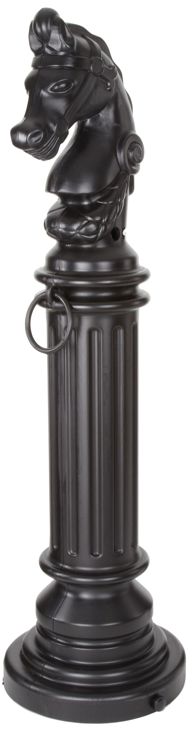 Eagle 1212BLACK SafeSmoker Decorative Cigarette Receptacle with Rubber Bottom, Hitching Post, 12-1/2'' Diameter x 44-1/2'' Height, Black