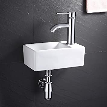 Kes Bathroom Corner Sink With P Trap Pop Up Drain And Faucet Chrome Combo 12 Inch Wall Mounted Small Vanity Porcelain Ceramic White Vessel Sink Bws100r C1 Amazon Com