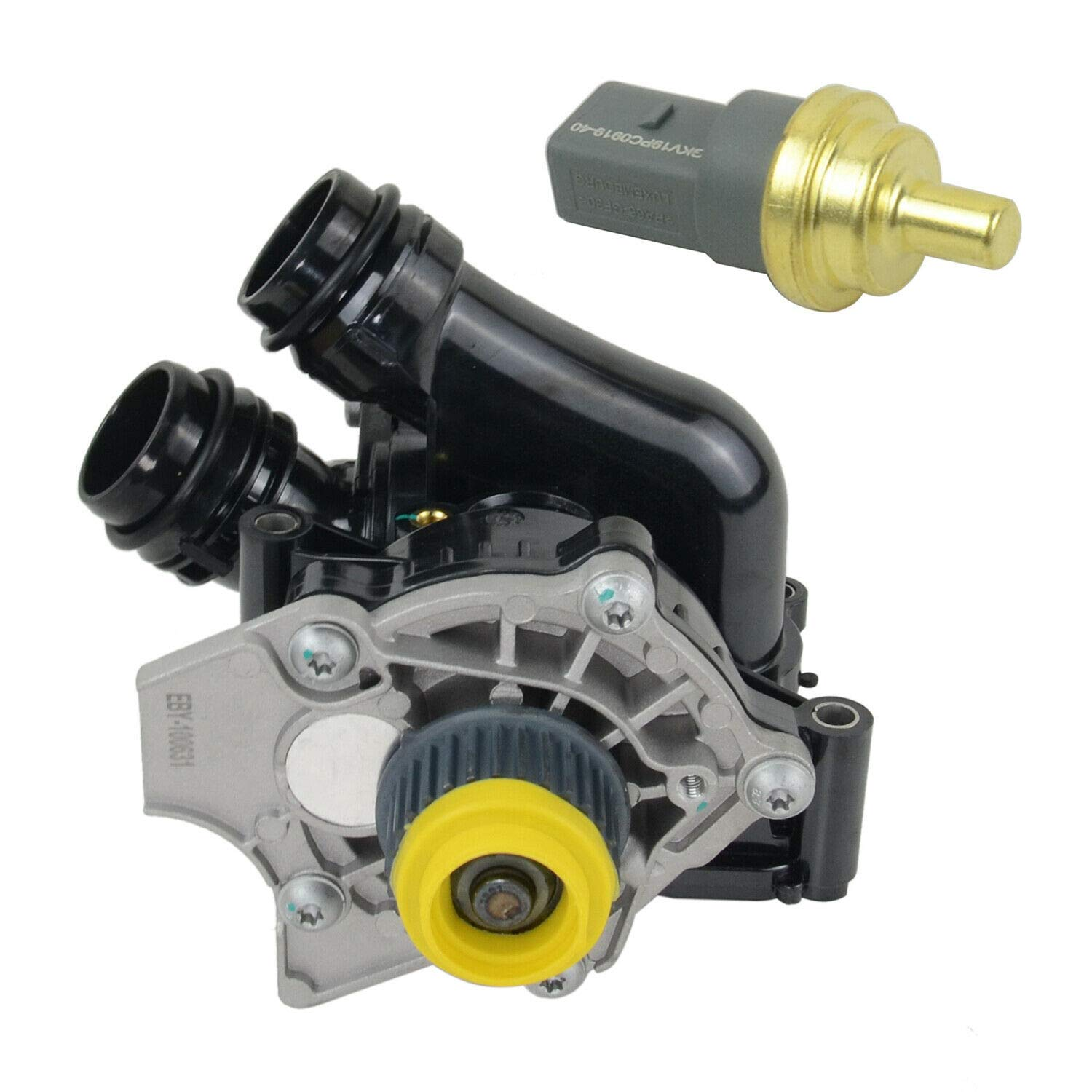 Water Pump and Thermostat Assembly 06H121026 For Audi VW 1.8 2.0 T Second Generation by AKWH