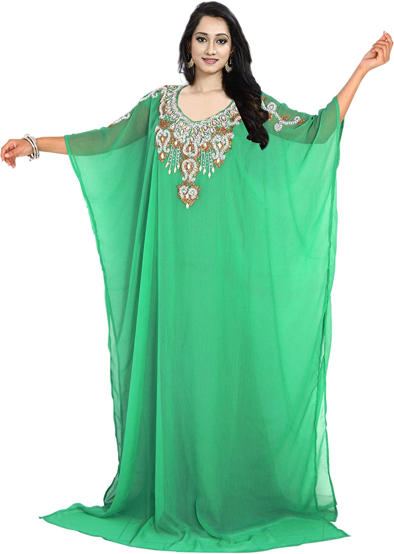 KoC Arabian Kaftan for Women Party wear Farasha Long Maxi Evening Dress Gown