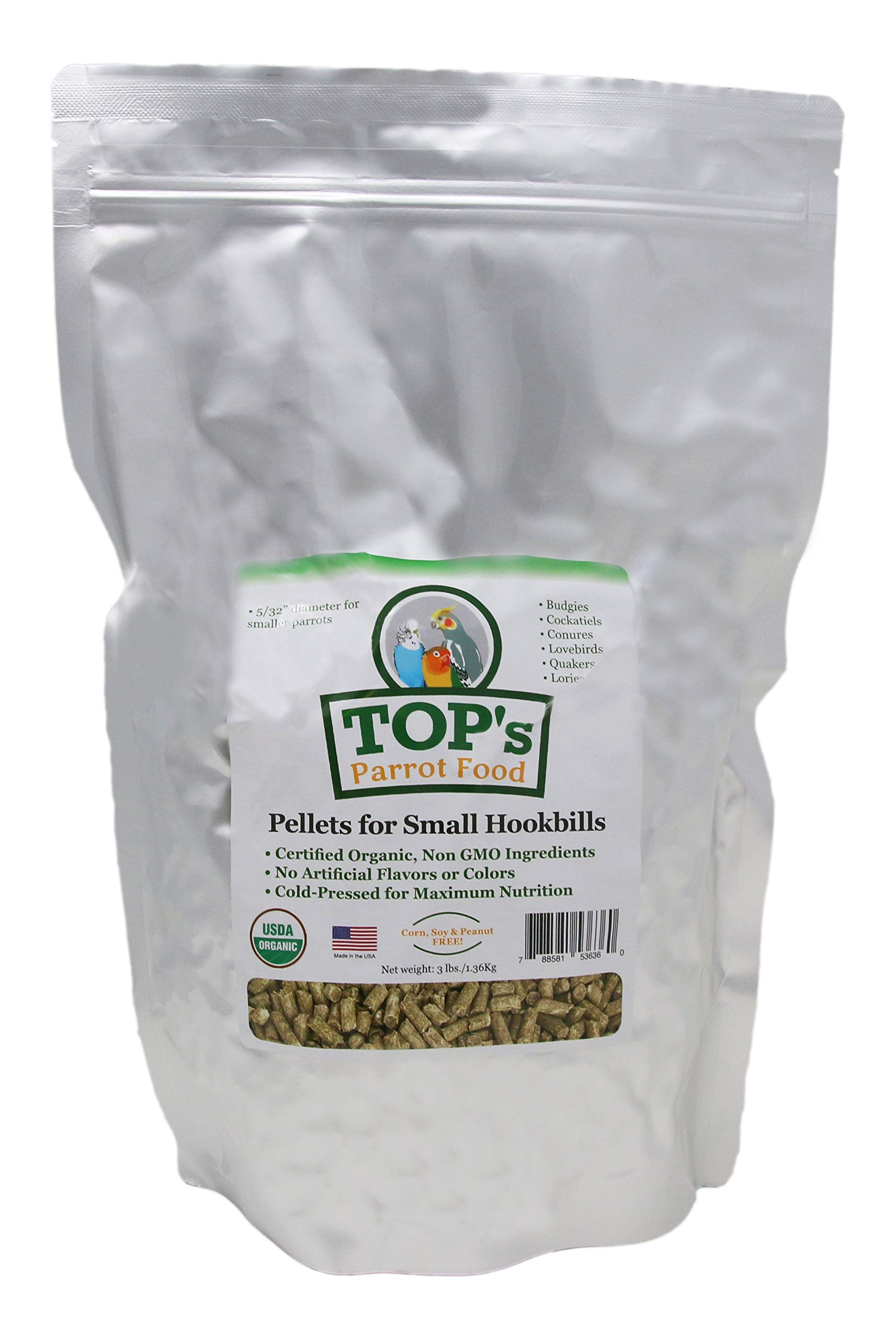 TOP's Outstanding Small Pellets for Small Hookbills -3lb by TOP's Parrot Food
