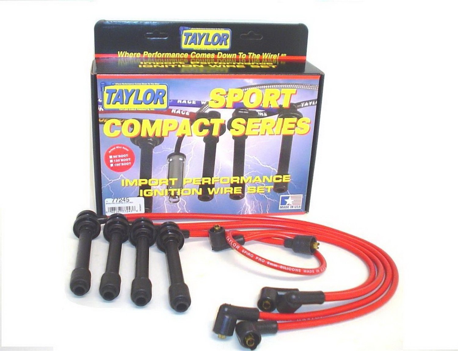 Taylor Cable 77245 Spiro-Pro Red Spark Plug Wire Set
