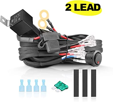 wiring harness kit for atv amazon com wiring harness 2 lead  akd part heavy duty wiring  amazon com wiring harness 2 lead  akd