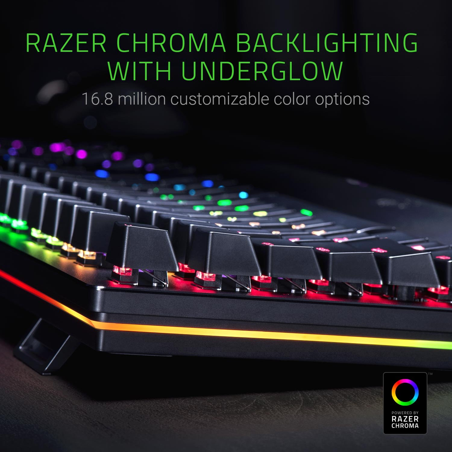 Razer Huntsman Elite Gaming Keyboard: Opto-Mechanical Key Switches -  Instant Actuation - Chroma RGB Lighting - Magnetic Plush Wrist Rest -  Dedicated