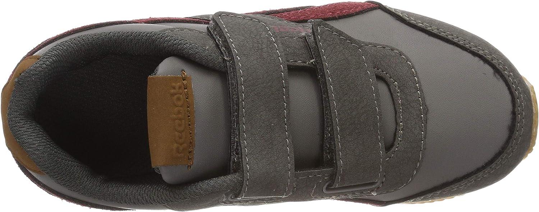 Reebok Royal Cljog 2 2v, Chaussures de Fitness garçon Multicolore Outdoor Graphite Triath Red Cream Wht Gu 000