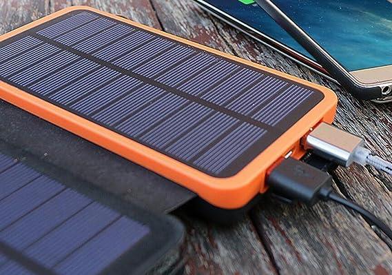 Amazon.com: itscool Cargador Solar Solar Power Bank 12000 ...