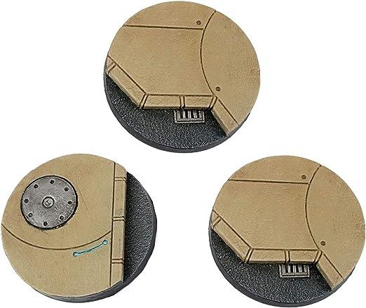 War World Gaming Industry of War - Peanas Redondas de Calle Sci-fi x 3 (50mm) - 28mm, Wargaming, Diorama, Miniaturas: Amazon.es: Juguetes y juegos