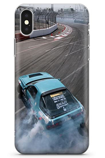Case Warehouse iPhone 10 Case, iPhone X Case, Nissan Drifting Phone Case Clear Ultra