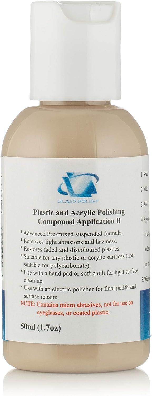 50 Ml Kunststoff Acryl Polieren Compound Entfernt Unschärfe Oberfläche Marken Verfärbte Oberfläche Anwendung B Baumarkt