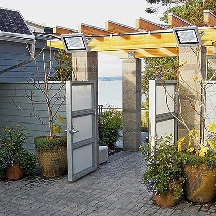 XMAGG Luz Solar Exterior Con Mando a Distancia, Foco Solar LED ...