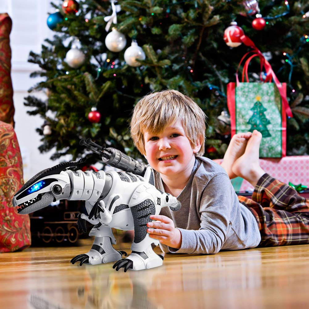 M AOMEIQI Intelligent Remote Control Dinosaur Electronic Programmable Interactive Robotic Dino Toy with Lights and Sounds,Rotation Stunt,Missile Launchers by M AOMEIQI (Image #6)