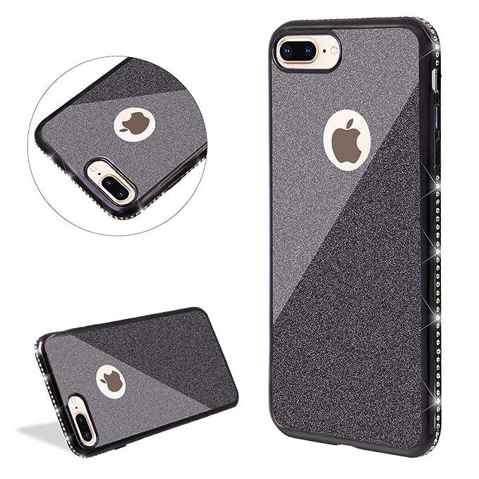 Carcasa de Silicona Transparente con Purpurina para iPhone 6/6S/7 ...