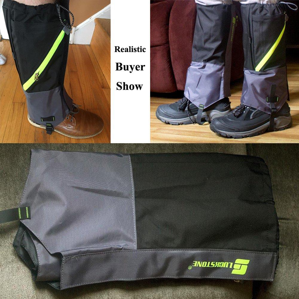 AYAMAYA Hiking Gaiters Waterproof Boot Snow Gaitors, Hiking Equipment Breathable High Boots Shoes Cover Leg Protection Guard, Anti Dust/Mud/Debris/Rock/Bush Snow Gaiters Hunting by AYAMAYA (Image #7)