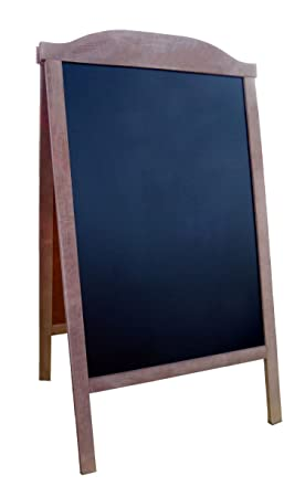 Pizarra negra caballete doble cara de madera Bordo pavimento ACERA JUNTA DE PISO DE MADERA UNA PENSIÓN NEGRO TARJETA ACCESO - ROSC