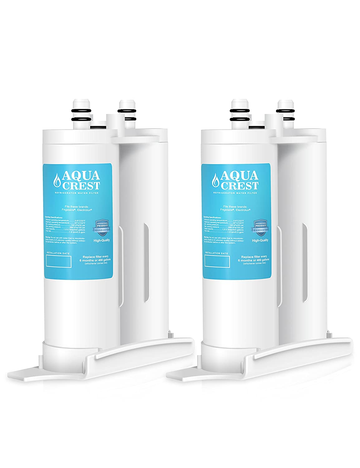 AQUACREST Replacement Refrigerator Water Filter, Compatible with PureSource2, FC100, 9916, 469916 (Pack of 2)