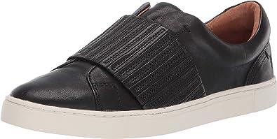 frye black leather sneakers