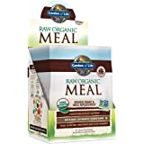 Garden of Life Meal Replacement Chocolate Powder, 10ct Tray, Organic Raw Plant Based Protein Powder, Vegan, Gluten-Free