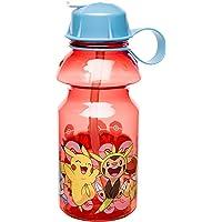 Zak Designs POKC-K870-B Pokemon Water Bottles, 14 oz, Pikachu & Chespin